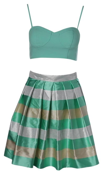 Preload https://img-static.tradesy.com/item/20186361/aqua-green-metallic-above-knee-cocktail-dress-size-6-s-0-2-650-650.jpg