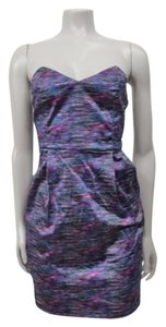 Silence + Noise Strapless Printed Sheath Urban Outfitters Dress