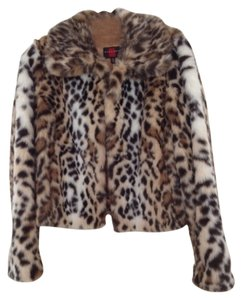 Gallery Print Faux Fur Coat