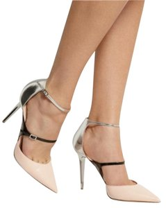 Jimmy Choo Silver Sandal Nude Pumps
