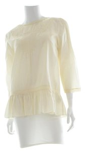 Tibi Sheer Silk Top Cream