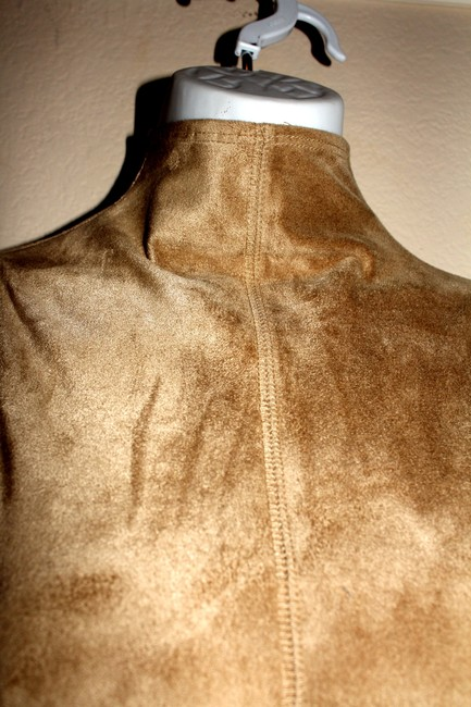 Other Faux Faux Turtleneck Top beige bodycon ultra suede Image 5