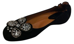 Earthies Black Suede Flats