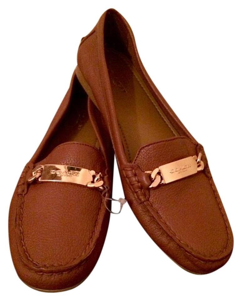 320d0cd0d11 Coach Loafers Leather Gold Hardware Saddle Flats Image 0 ...