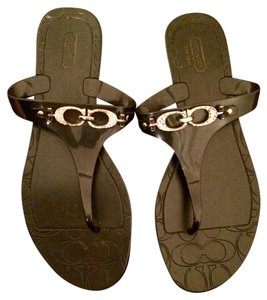 Coach Jelly Sandal Monogram 8 Black Sandals