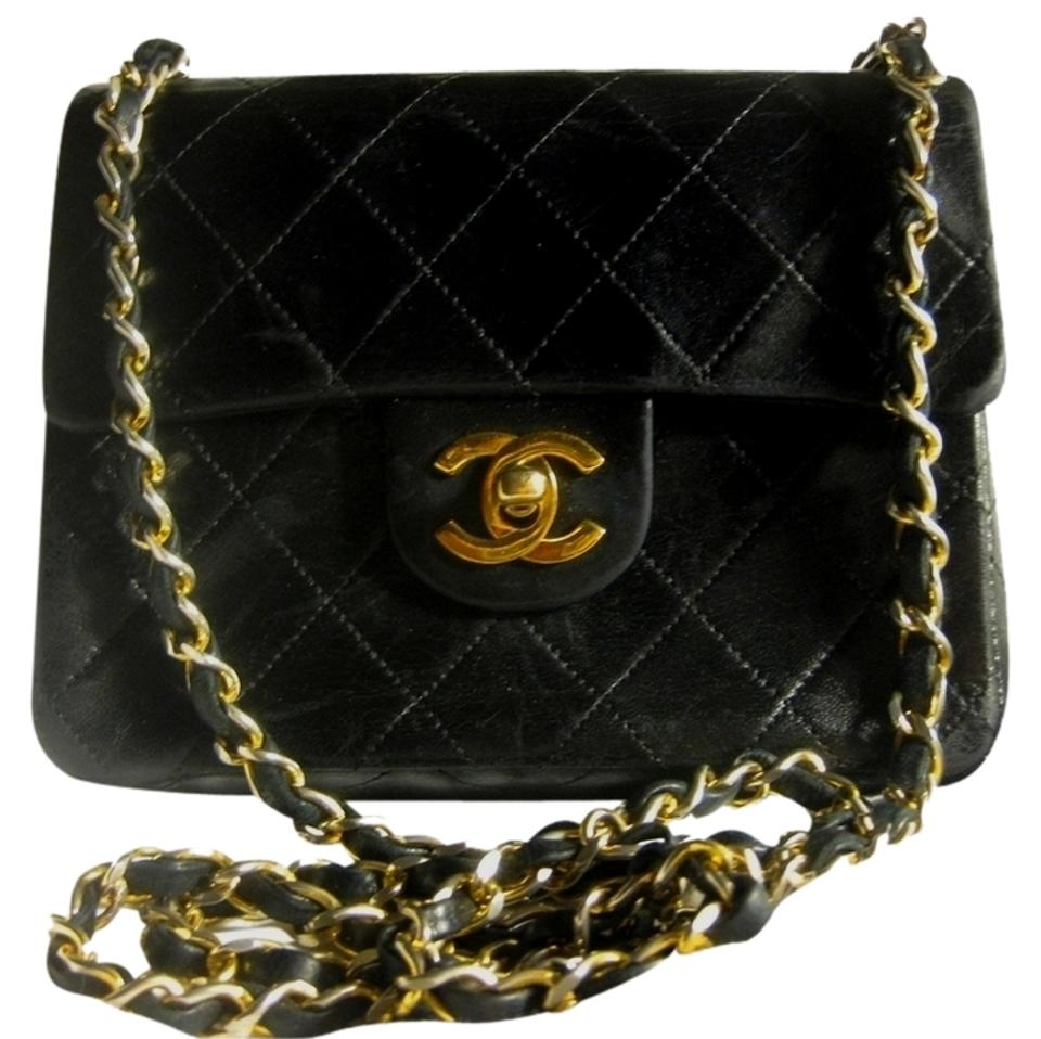 6252a5be6f3c Chanel Mini Classic Flap 2.55 Quilted Small Lambskin Leather Gold Hardware  Cc Logo Ghw Woc Boy ...