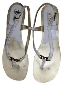 Gucci Leather Thong White Sandals