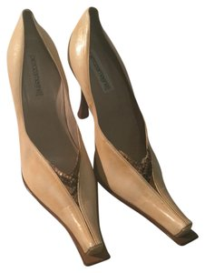 Pierozamagni Beige with brown python Pumps