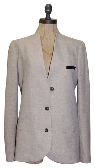 Zara Night Out Professional Long BEIGE Blazer Image 0