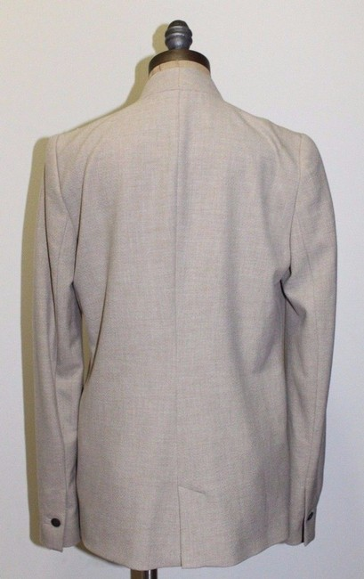 Zara Night Out Professional Long BEIGE Blazer Image 4