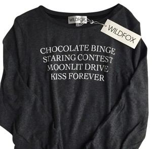 Wildfox Graphic Sweatshirt Soft Cozy Comfy Sweater