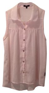 Monteau Los Angeles Button Down Shirt Pale Pink