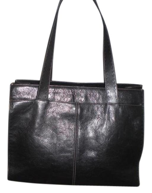 Item - Work Tote/ Carry On Shopper Black Leather Tote