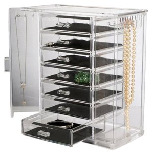 Acrylic Jewelry Drawer 6 Tier Acrylic Jewelry Chest Keeper Clear Necklace Holder Display