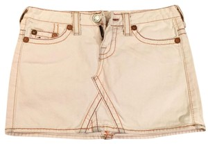 True Religion Mini Skirt White