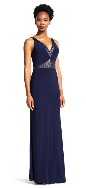 Preload https://img-static.tradesy.com/item/20187407/adrianna-papell-midnight-mermaid-gown-with-beaded-sheer-insets-long-formal-dress-size-16-xl-plus-0x-0-0-650-650.jpg