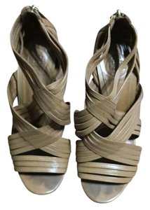 Tory Burch Strappy Ankle Strap Open-toed Leather Tan/Camel Brown Pumps