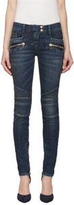 Balmain Chloe Gucci Louis Vuitton Skinny Jeans-Medium Wash