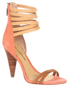 Rebecca Minkoff Nwot Butter-soft Strappy Orange Sandals