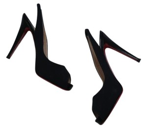 Christian Louboutin Slingback 40 9.5 Black Pumps