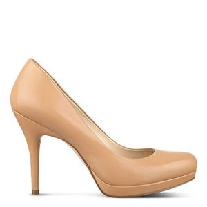 Nine West Heels Classic Medium Natural Leather Pumps