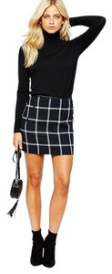 Oasis Classic Preppy Checkered Mini Skirt Black, Blue, White