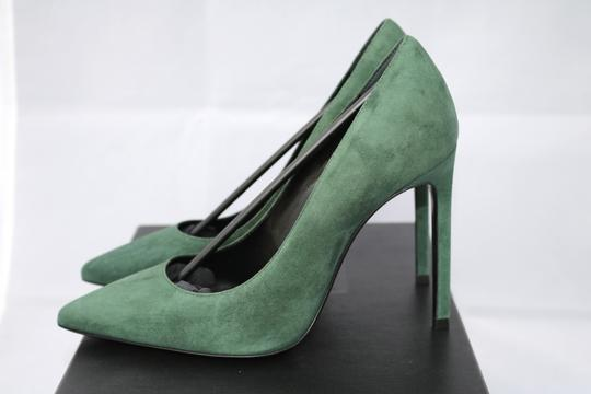Saint Laurent Suede Pointed Toe Classic green Pumps
