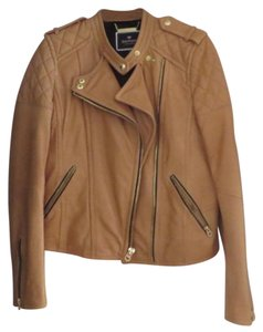Juicy Couture Camel Leather Jacket