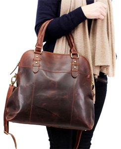 The Leather Store UK Satchel in Brown
