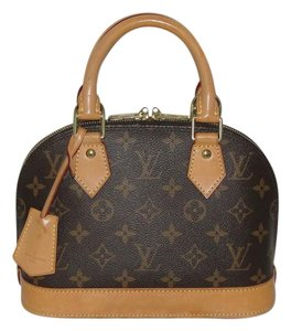 Louis Vuitton Alma Bb Cross Body Monogram Satchel