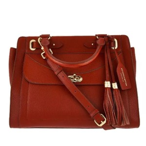 Isaac Mizrahi Live! Satchel in Cognac Brown