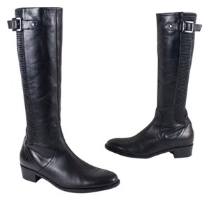 Aquatalia by Marvin K. Italy Stretch Leather Black Boots