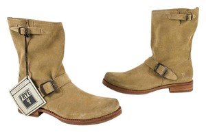 Frye Short Slouch Suede Sand Boots