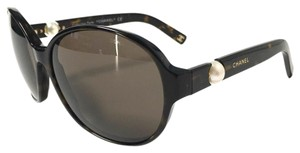 Chanel Chanel Pearl Collection Round Oval Trendy Tortoise Sunglasses