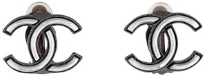 Chanel Silver Outlined CC Clip-On Earrings