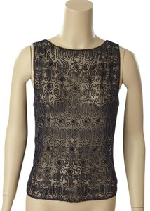 Ralph Lauren Eveningout Beaded Sheer Top
