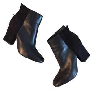 Nine West Heeled Suede Leather Black Boots
