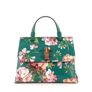 Gucci Leather Satchel in Green