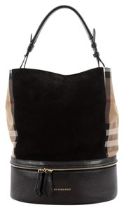Burberry Canvas Satchel in Black