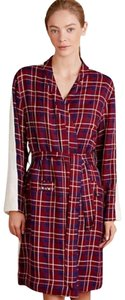 Anthropologie Plaid Sherpa Robe