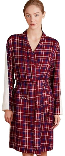 Anthropologie Plaid Sherpa Robe Image 0