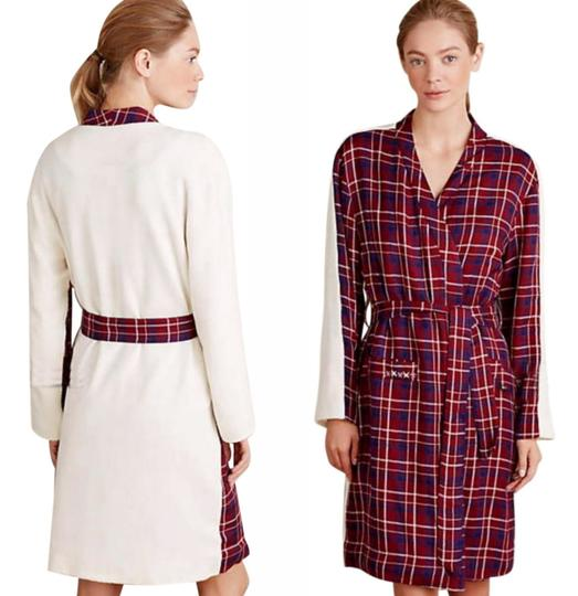 Anthropologie Plaid Sherpa Robe Image 1