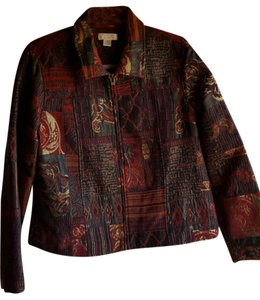 Christopher & Banks Fall Colors Jacket Multicolor Blazer