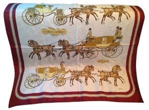 Hermès Hermes Coach and Saddle Silk Scarf Phillipe Ledoux