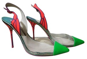 Sophia Webster neon green / red Pumps