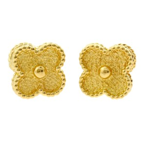 Van Cleef & Arpels Van Cleef Arpels Vintage Alhambra Gold Earrings
