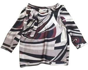 Emilio Pucci Top Black, white, grey, brown, navy