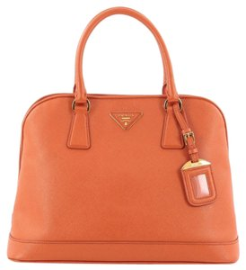 Prada Leather Satchel in Orange