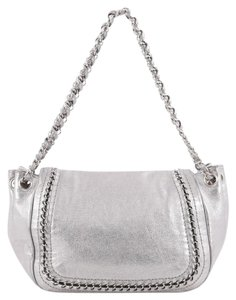 Chanel Leather Satchel in Silver