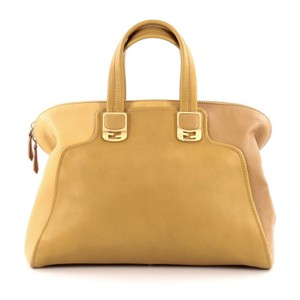 Fendi Leather Satchel in Yellow